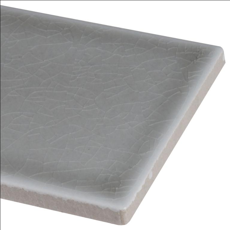 Dove Gray Handcrafted 4x12 Glossy Subway Tile Backsplash