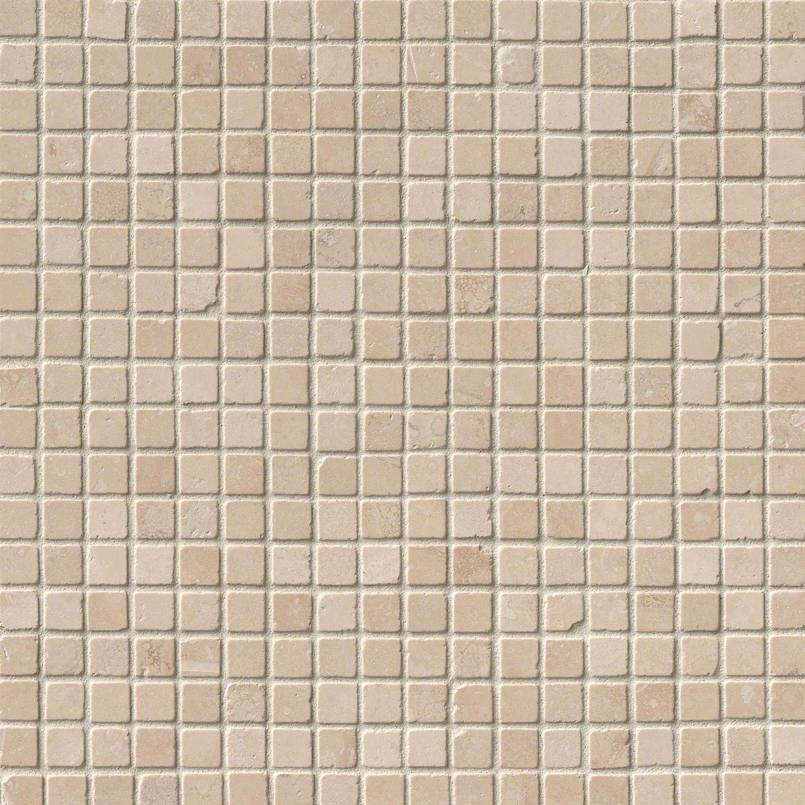 Durango Cream 5/8X5/8 Tumbled Travertine Mosaic