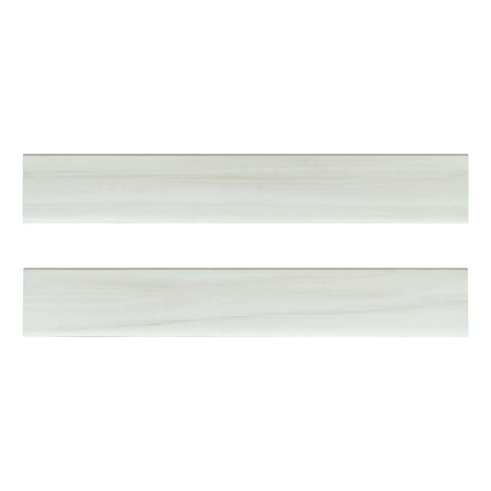 Eden Dolomite Bullnose 4X24 Matte Porcelain Tile
