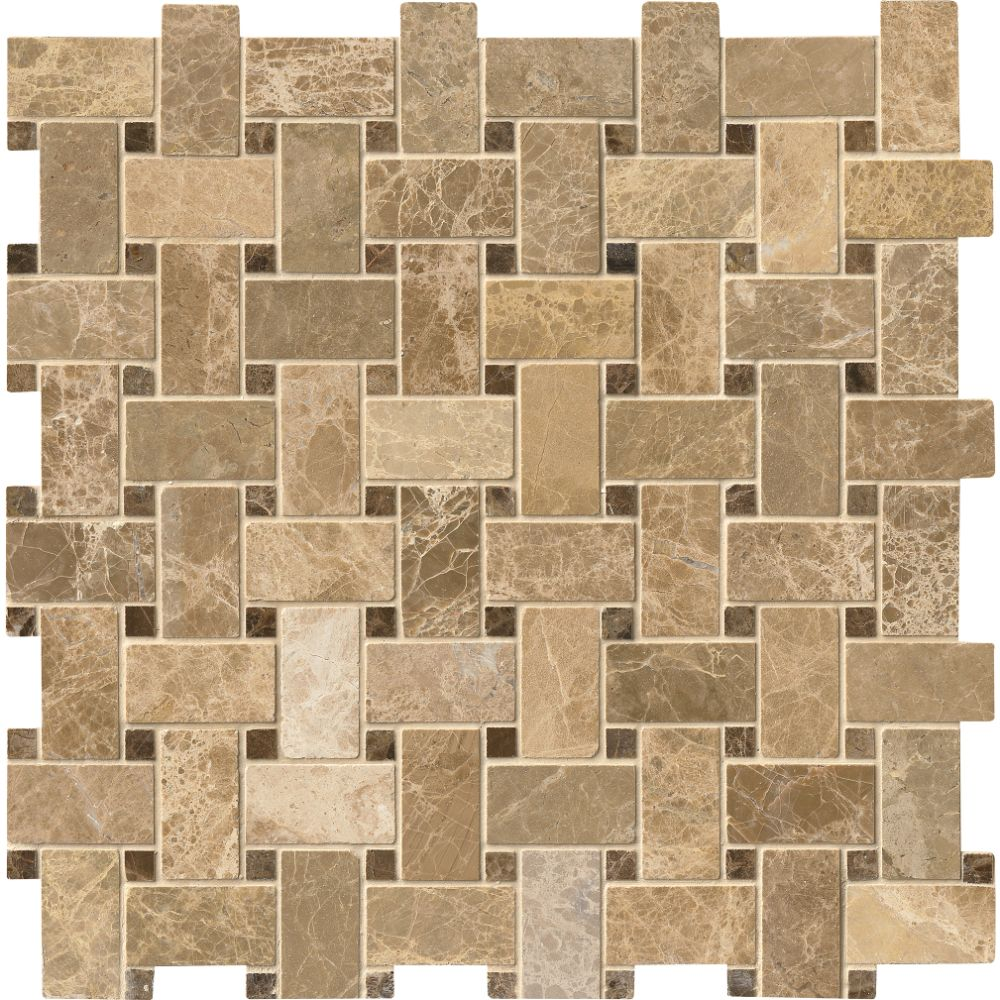 Emperador Light Basketweave 12X12 Polished