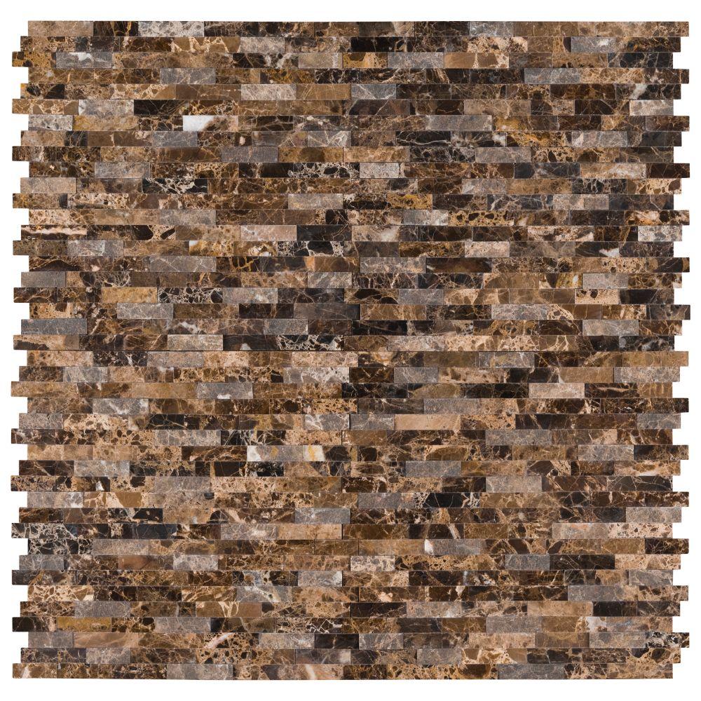 Emperador Splitface Peel And Stick Wall Tile