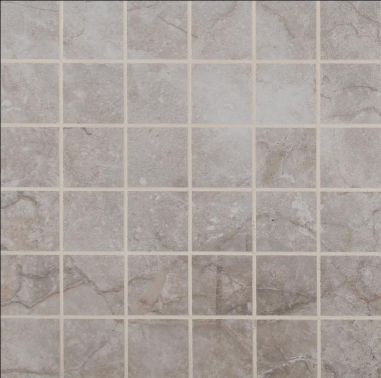 Essentials Ansello Grey 2X2 Matte Ceramic Mosaic