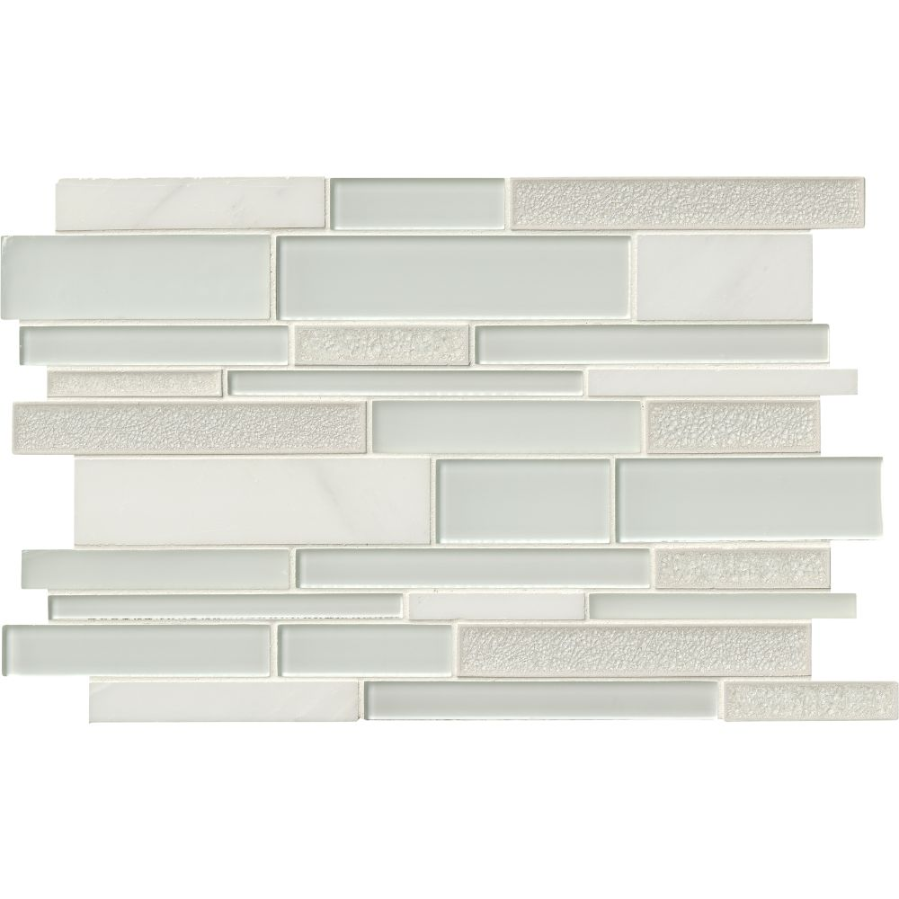 Fantasia Blanco Interlocking 12x18 Pattern Mosaic