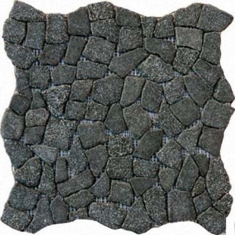 Flat Charcoal Pebbles 16X16 Natural Pebbles