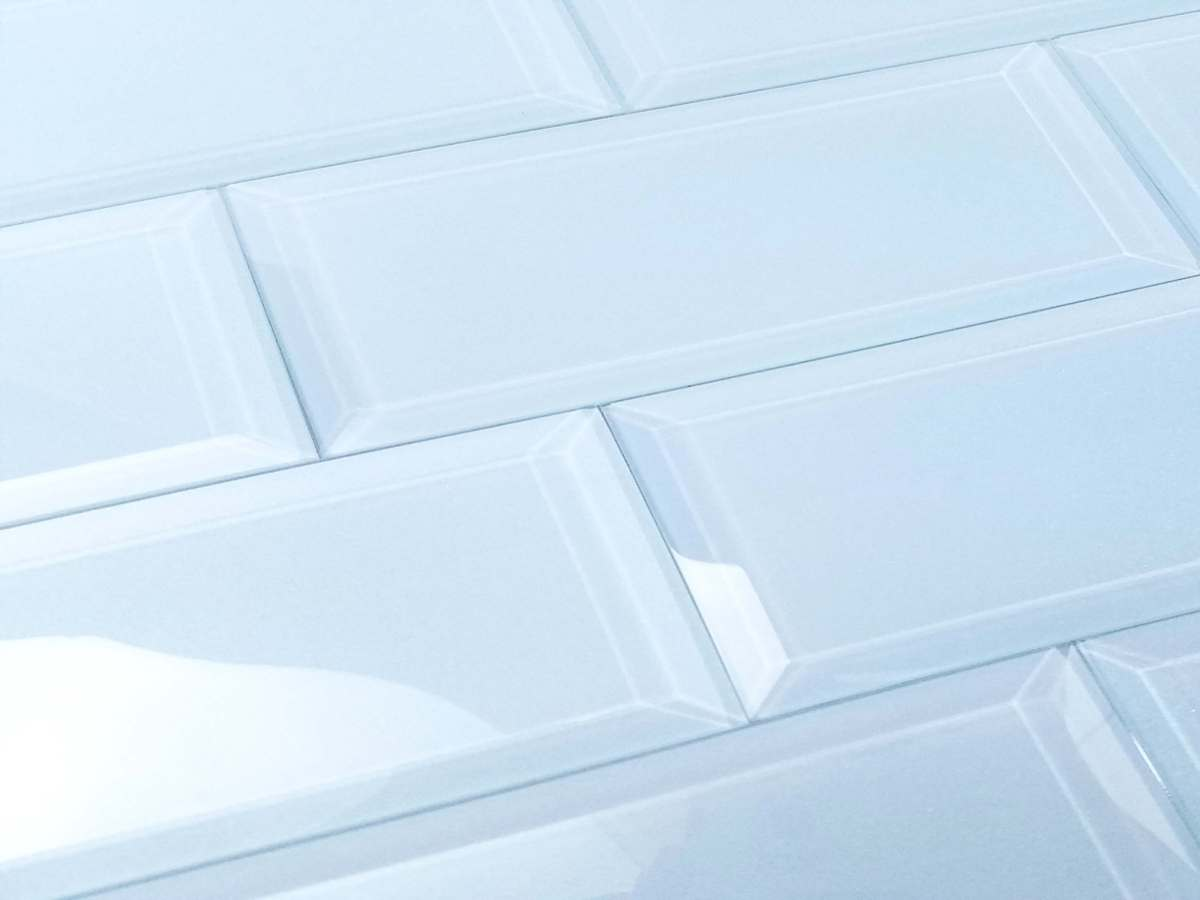 Frosted Elegance Catherine 3X12 Glossy Subway Glass