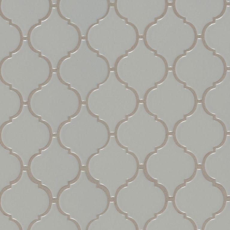 Gray Glossy Arabesque Mosaic