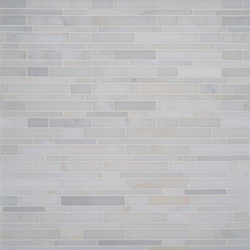 Greecian White Interlocking Pattern Polished Mosaic