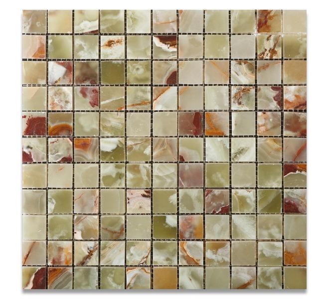 Green Onyx 1x1 Polished Mosaic