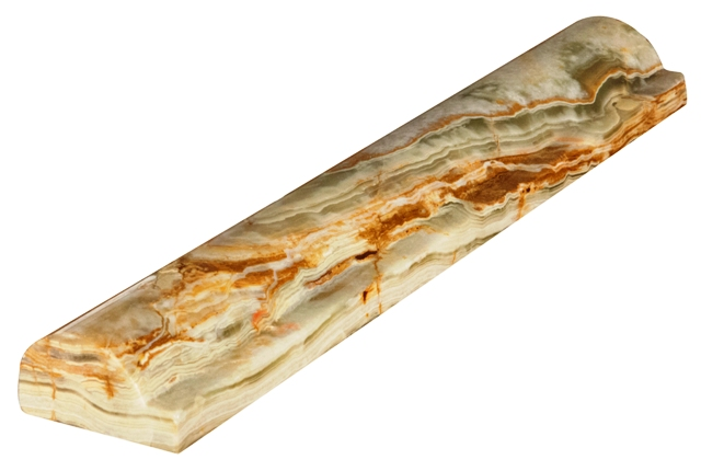 Green Onyx 1x2x12 Rail Molding Polished