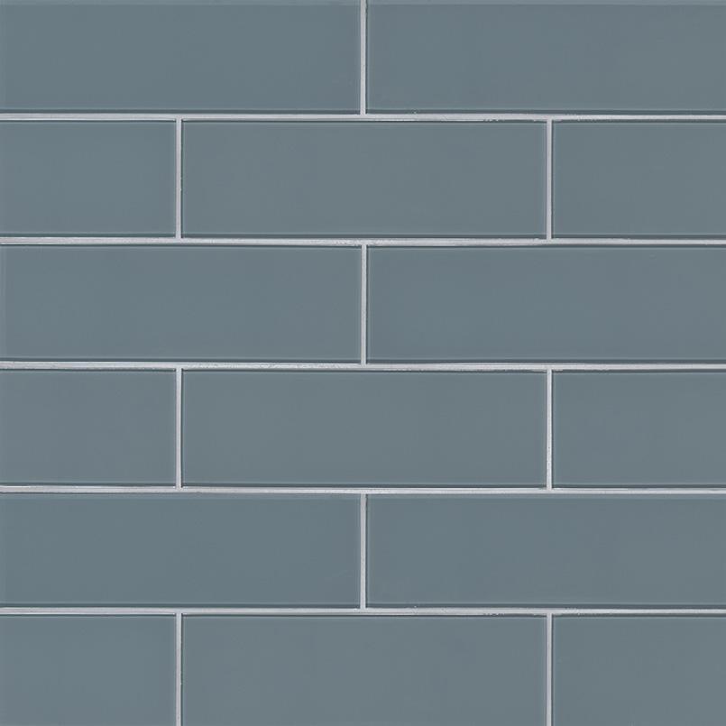 Harbor Gray 4x12 Glass Subway Tile