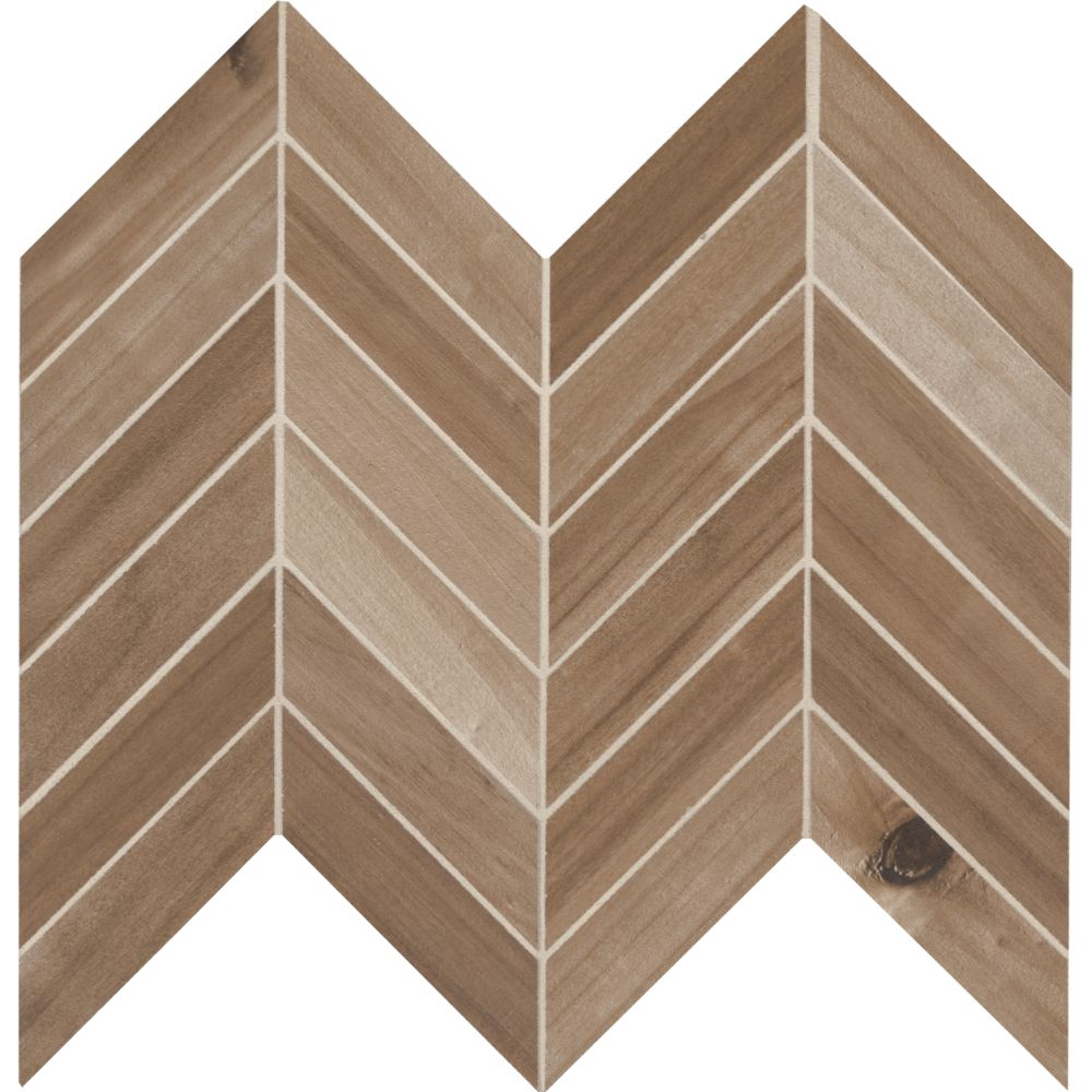 Havenwood Saddle 12X15 Matte Chevron Mosaic