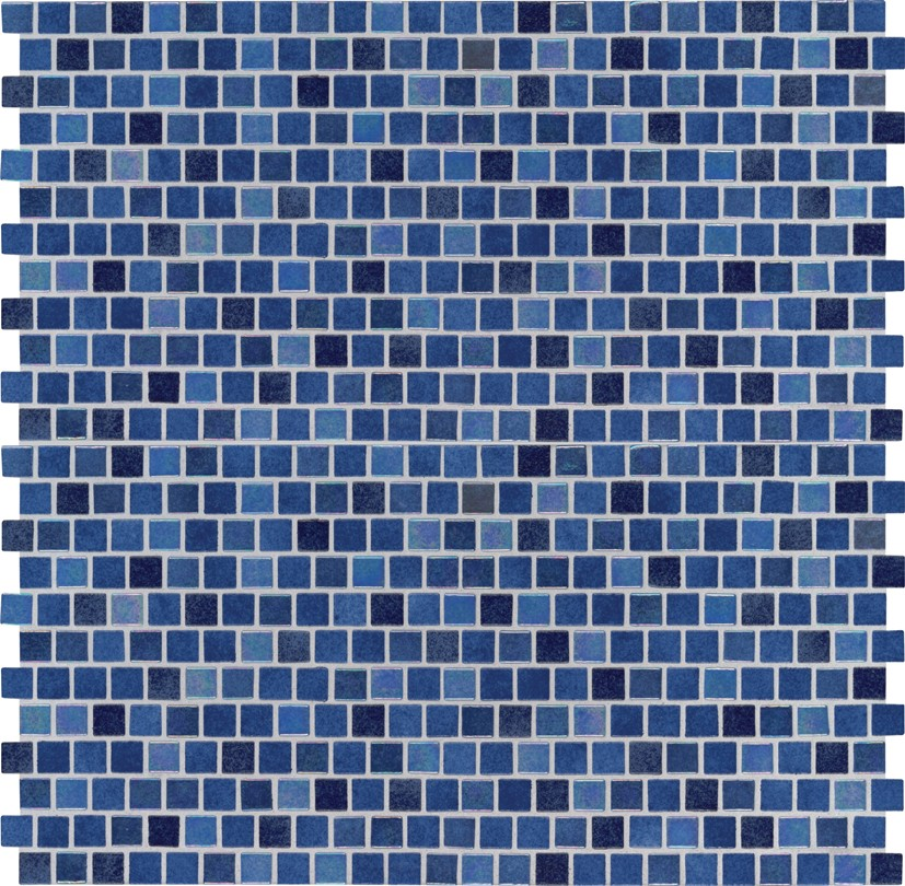 Hawaiian Blue 1X1 Staggered Glass Mosaic