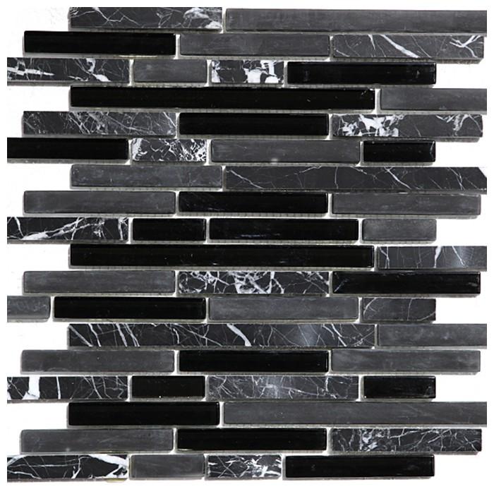 China Black Interlocking Blend Mosaic