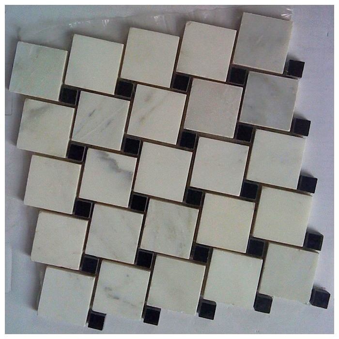 Arabescato Carrara Leaning 2x2 Polished Blend Mosaic