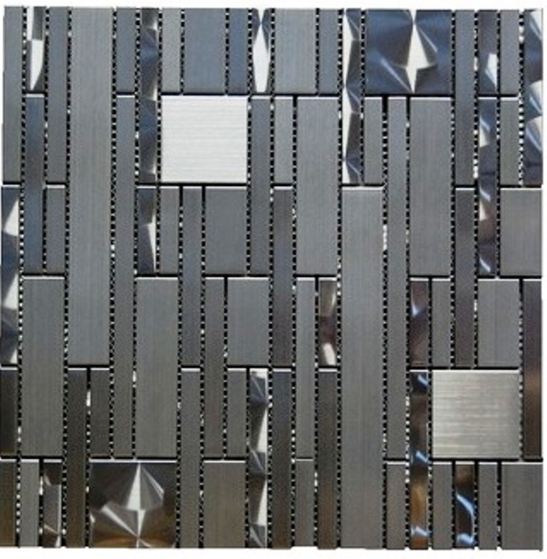 Stainless Steel 12x12 Magic Pattern Blend Mosaic