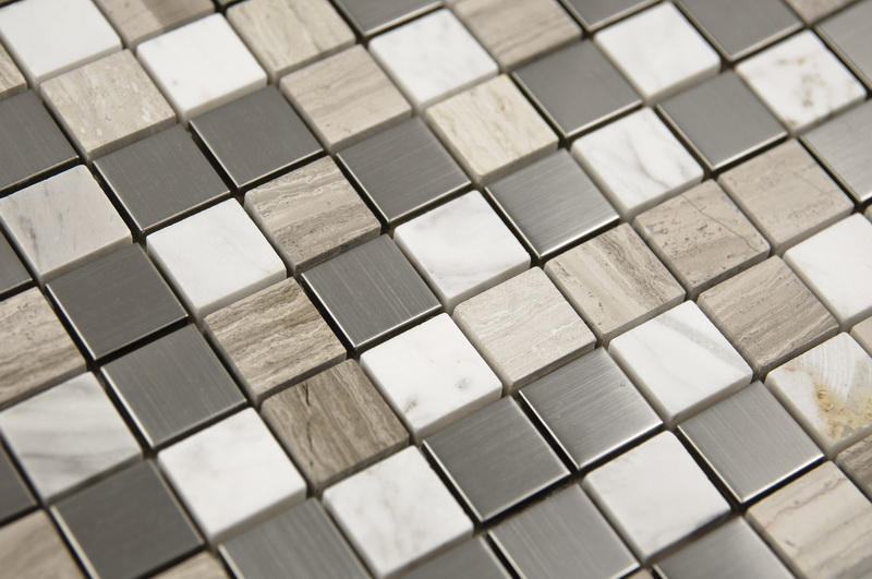 Siberian 1x1 Honed / Polished Blend Mosaic