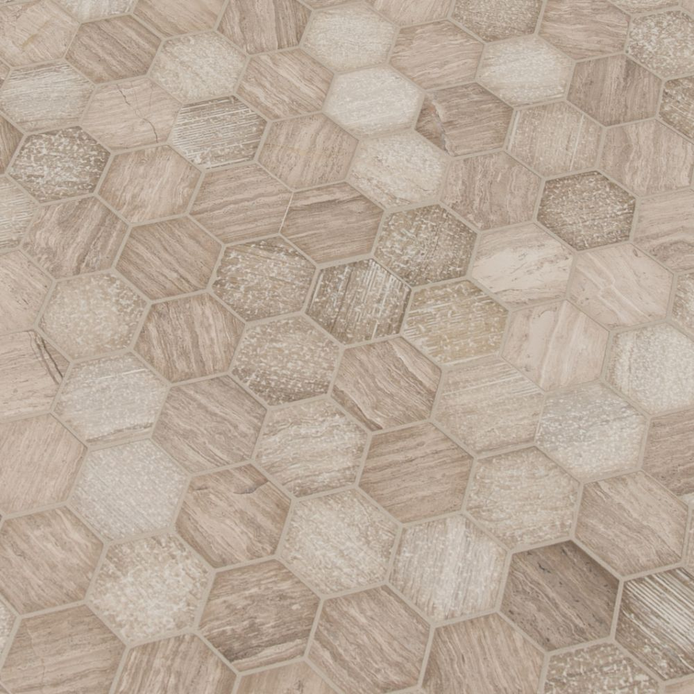Honey Comb 2x2 Hexagon Multi Finish Mosaic
