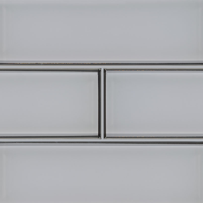 Ice Bevel 4x12 Glossy Glass Subway Tile
