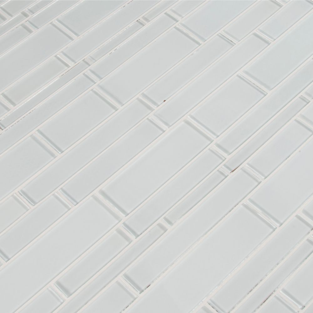 Ice Interlocking Pattern 12x18 Crystallized Glass Mosaic