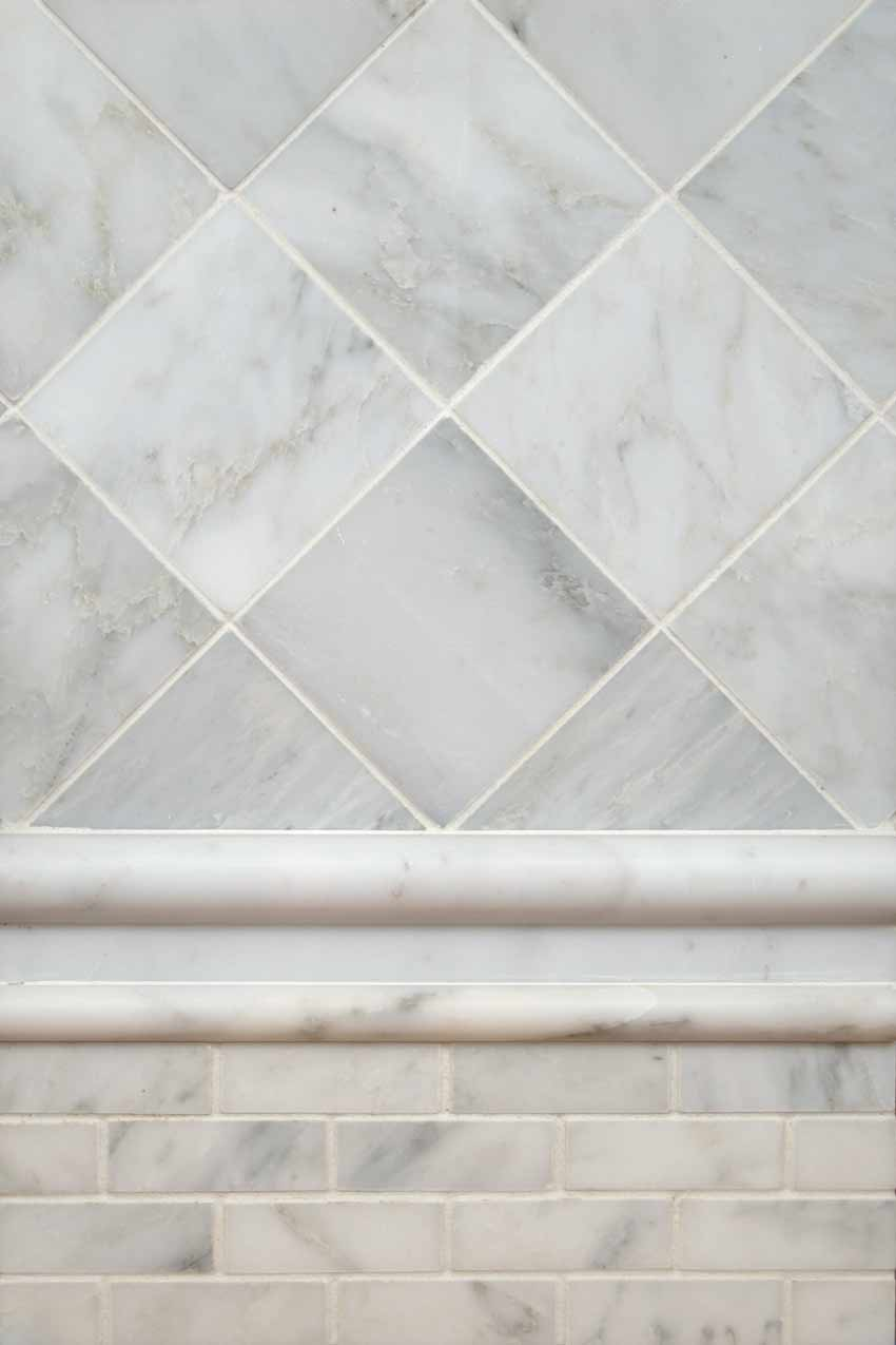 White Cloud 2x2 Polished Marble Mosaic