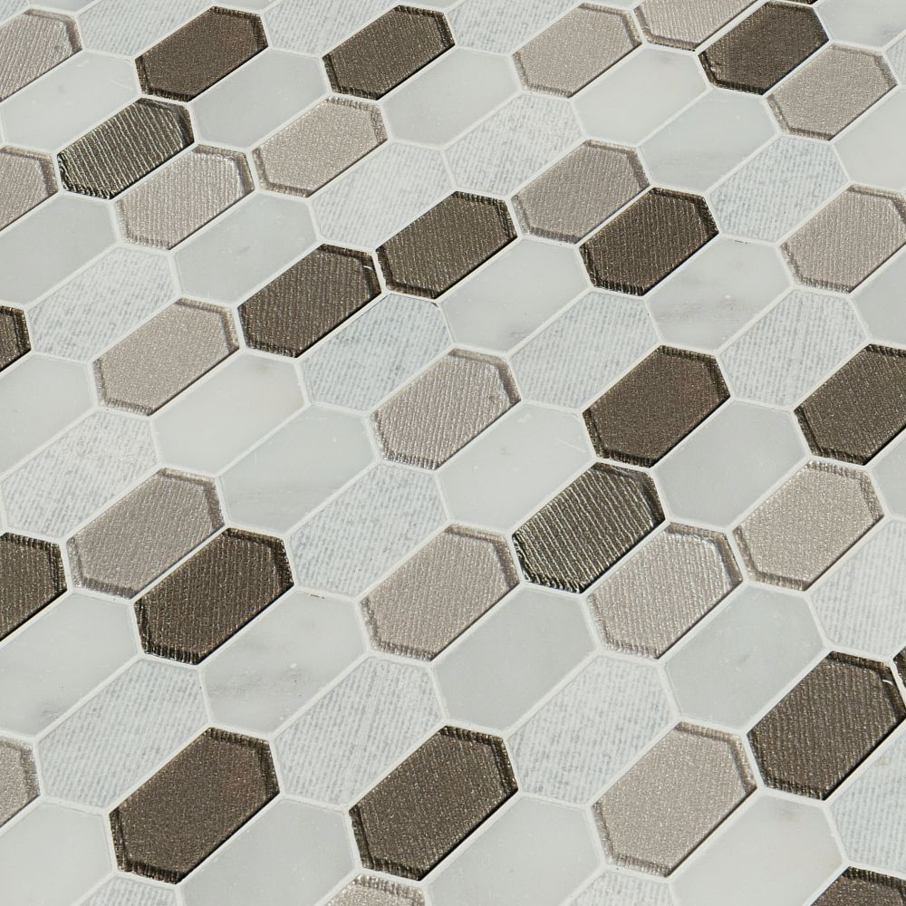 Inessa Blanco Picket Pattern 8mm Glass Wall Tile