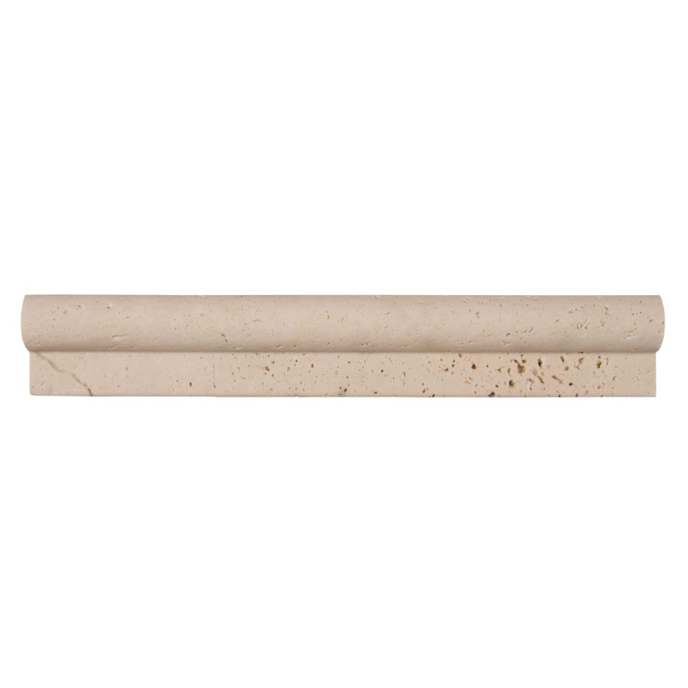 Ivory Travertine 1x2x12 Honed Rail Molding
