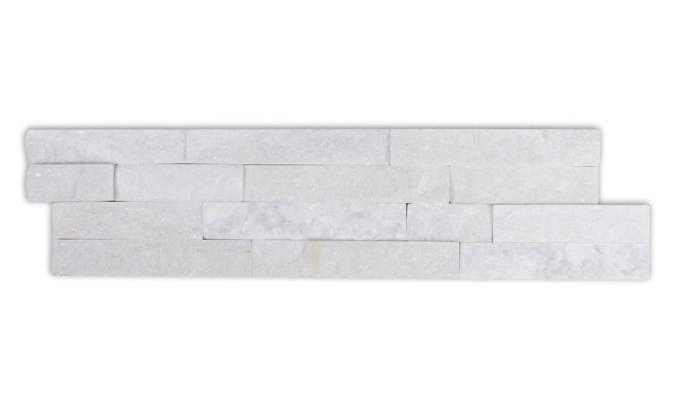 Laizhou White Quartzite 6x24 Ledger Panel Split Face