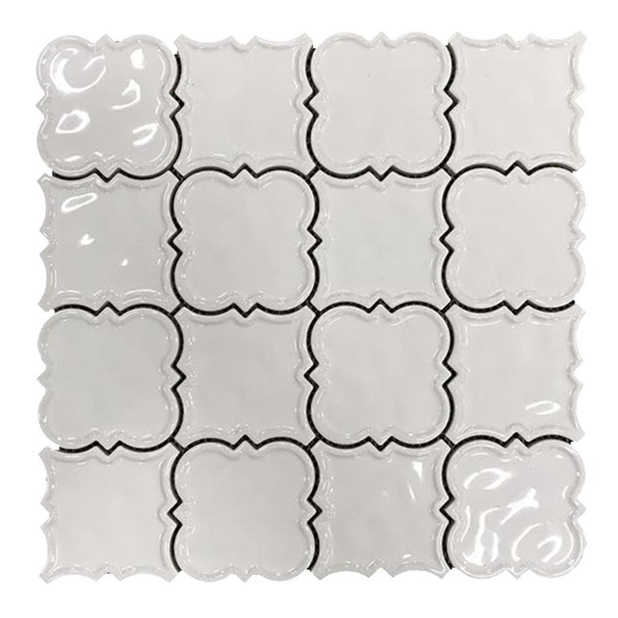 Magnolia 3X3 White Square Ceramic Mosaic