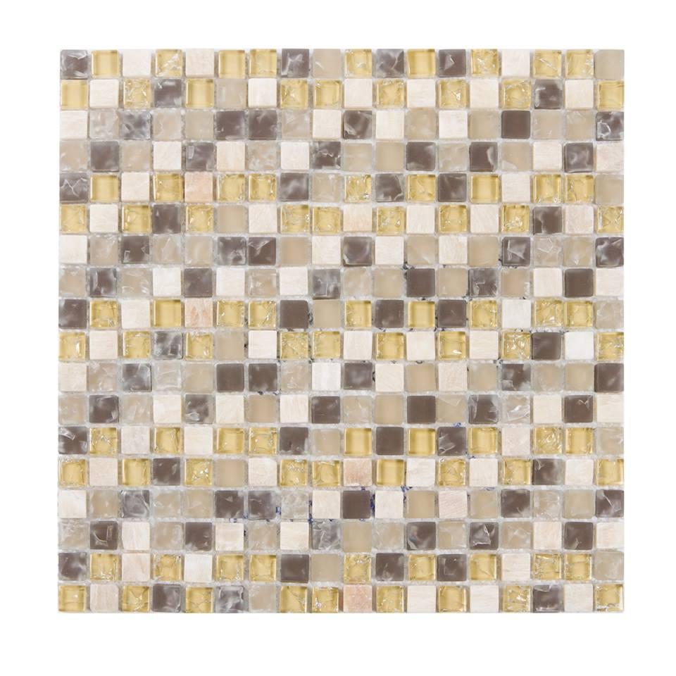 Mediterranean 5/8x5/8 Glass Stone Blend Mosaic