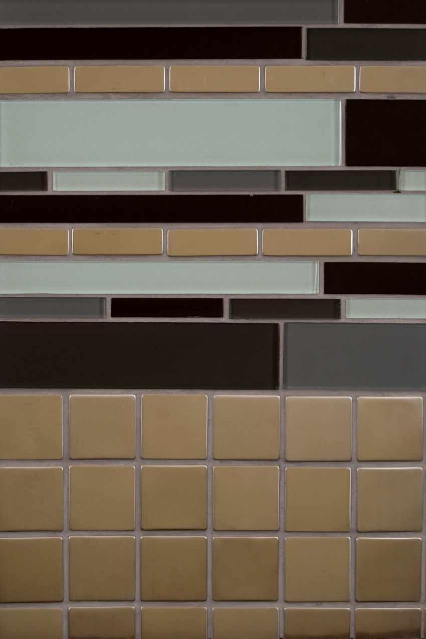 Metal Silver Matte 2X2 Mosaic