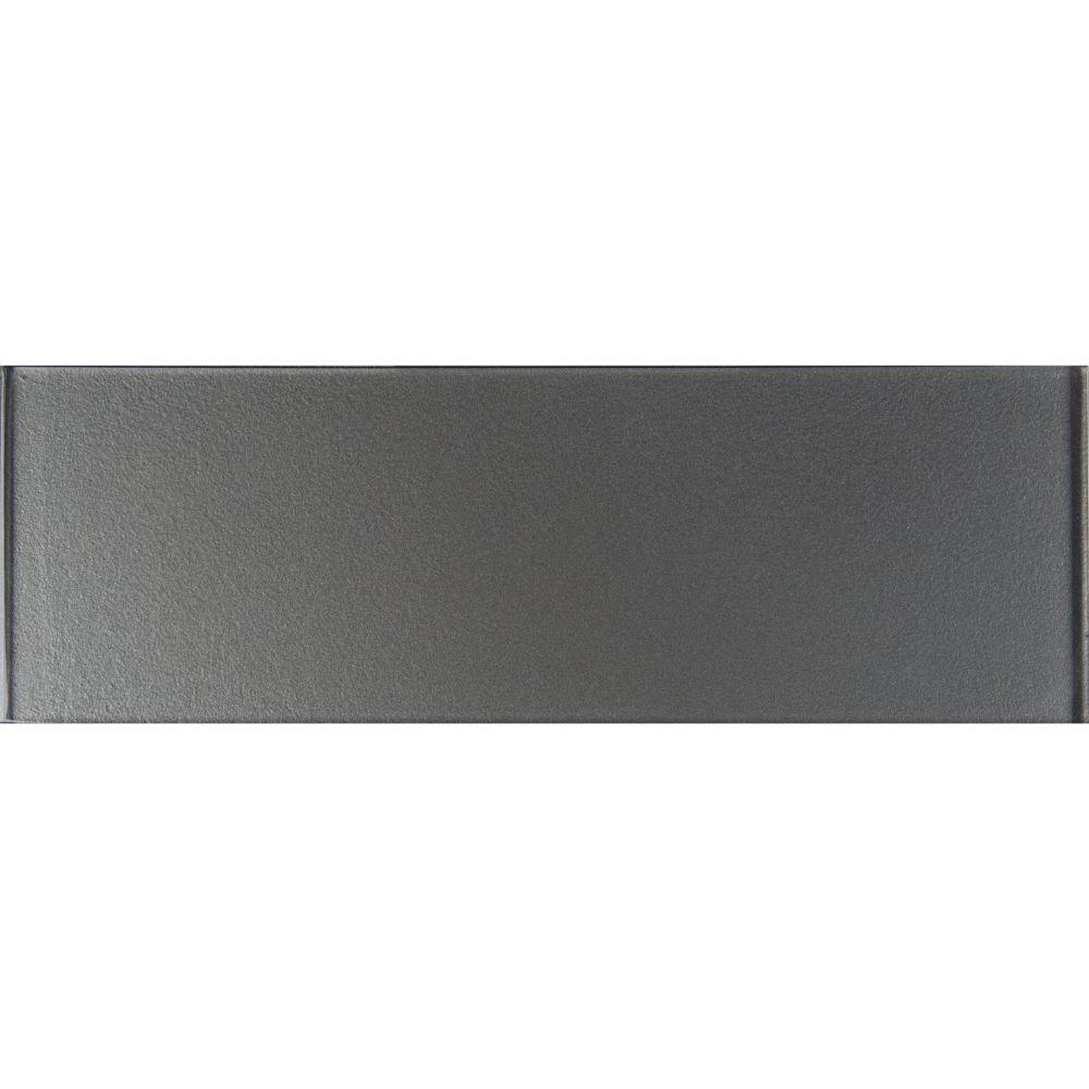 Metallic Gray 4x12 Glossy Subway Tile