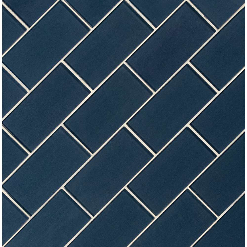 Midnight 3X6 Glossy Glass Subway Tile