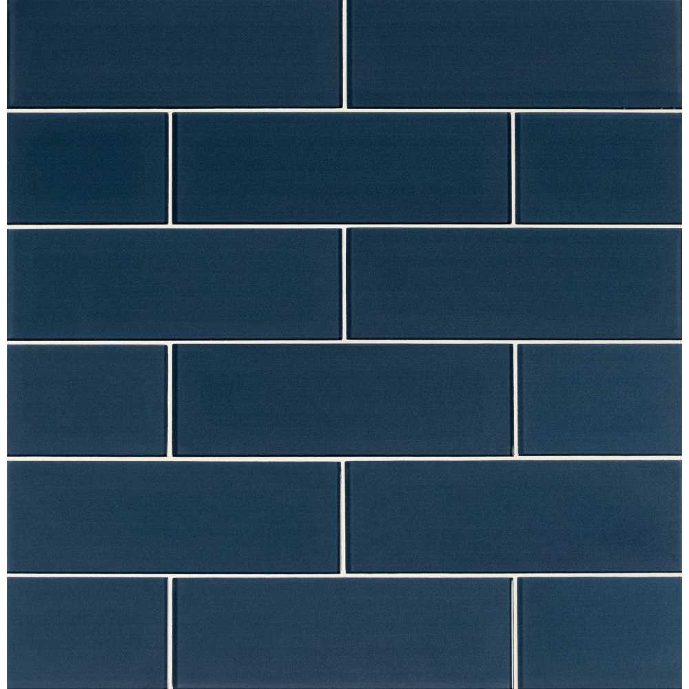 Midnight 4X12 Glossy Glass Subway Tile