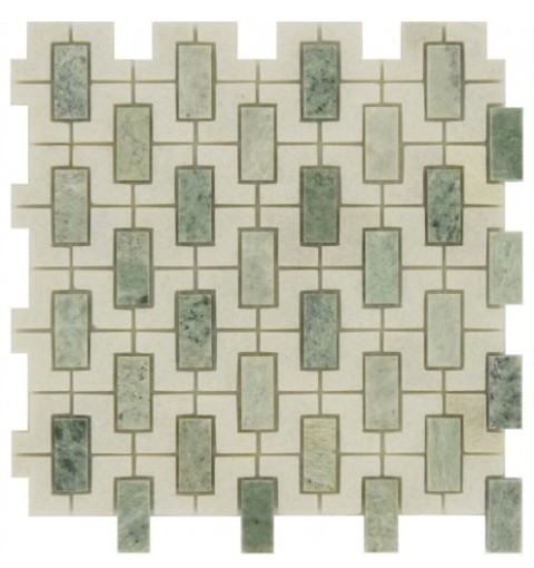 Ming Green Window 12x12 Polished Mosaic