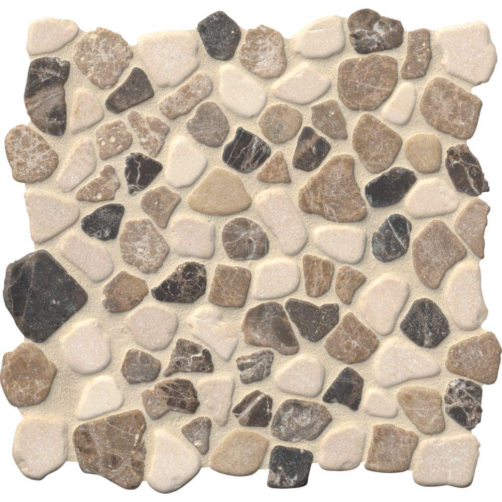 Mix Marble Pebbles 12X12 Tumbled
