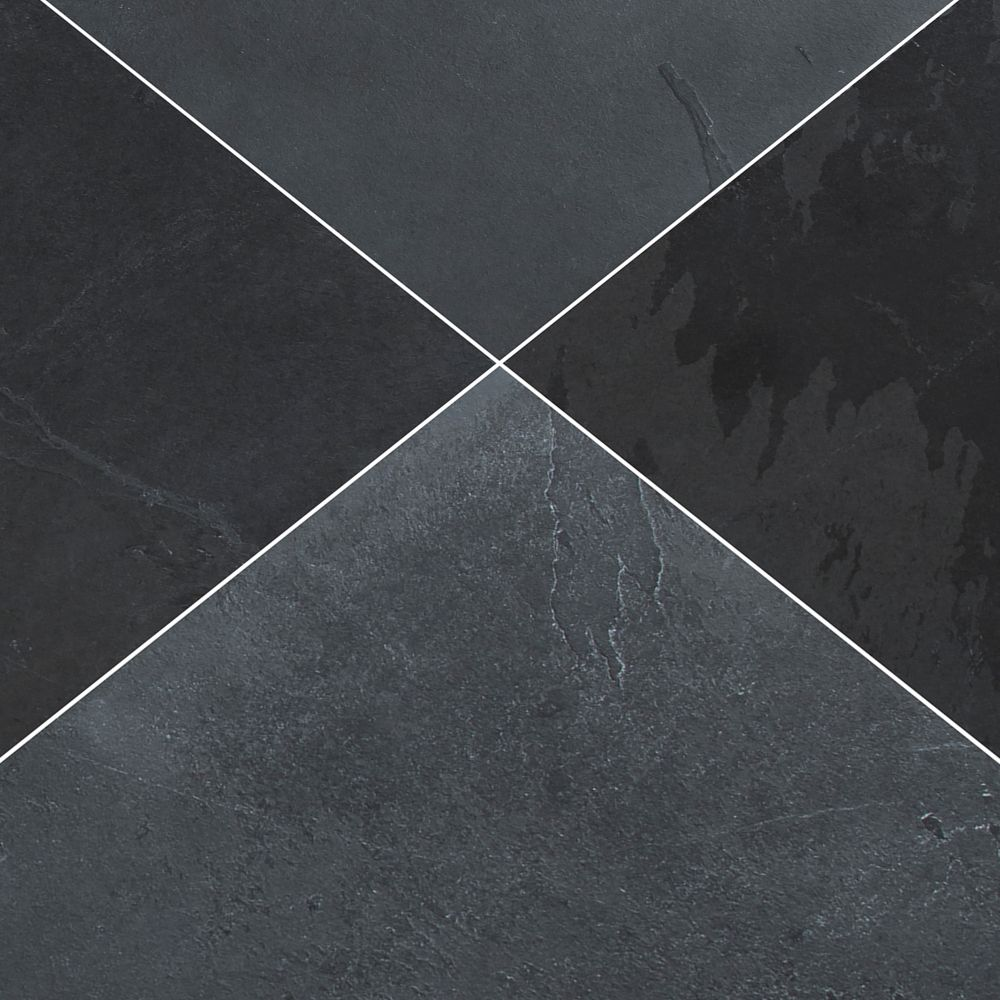 Montauk Black 12X12 Honed Slate
