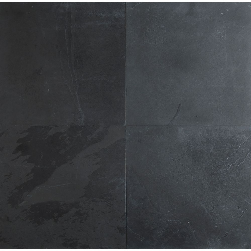 Montauk Black 24X24 Gauged Slate Floor Tile