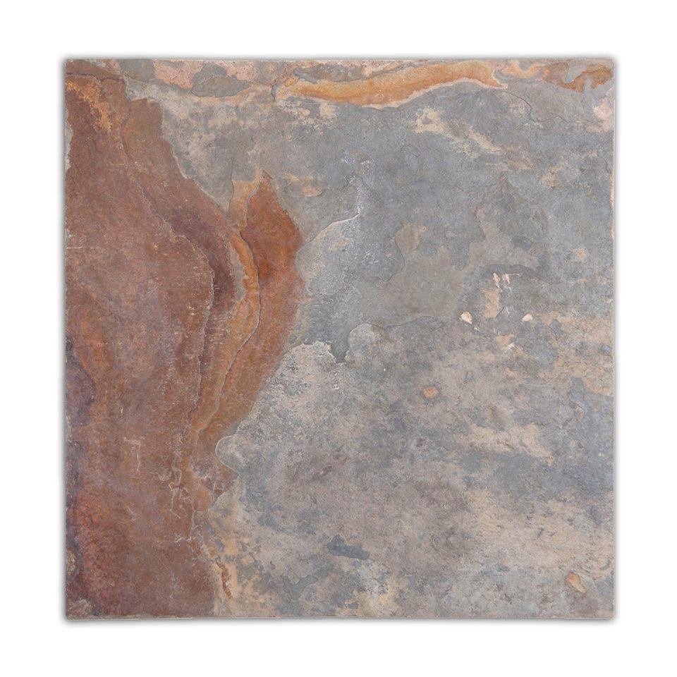 Multicolor 12X12 Flamed Slate Tile