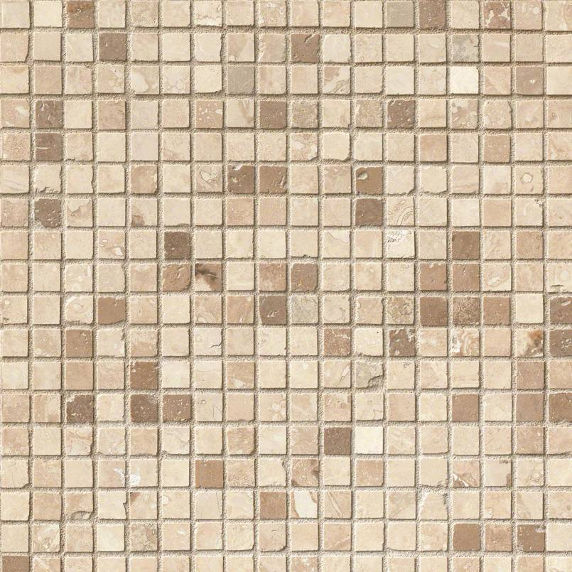 Noche Chiaro 5/8x5/8 Honed Travertine Mosaic