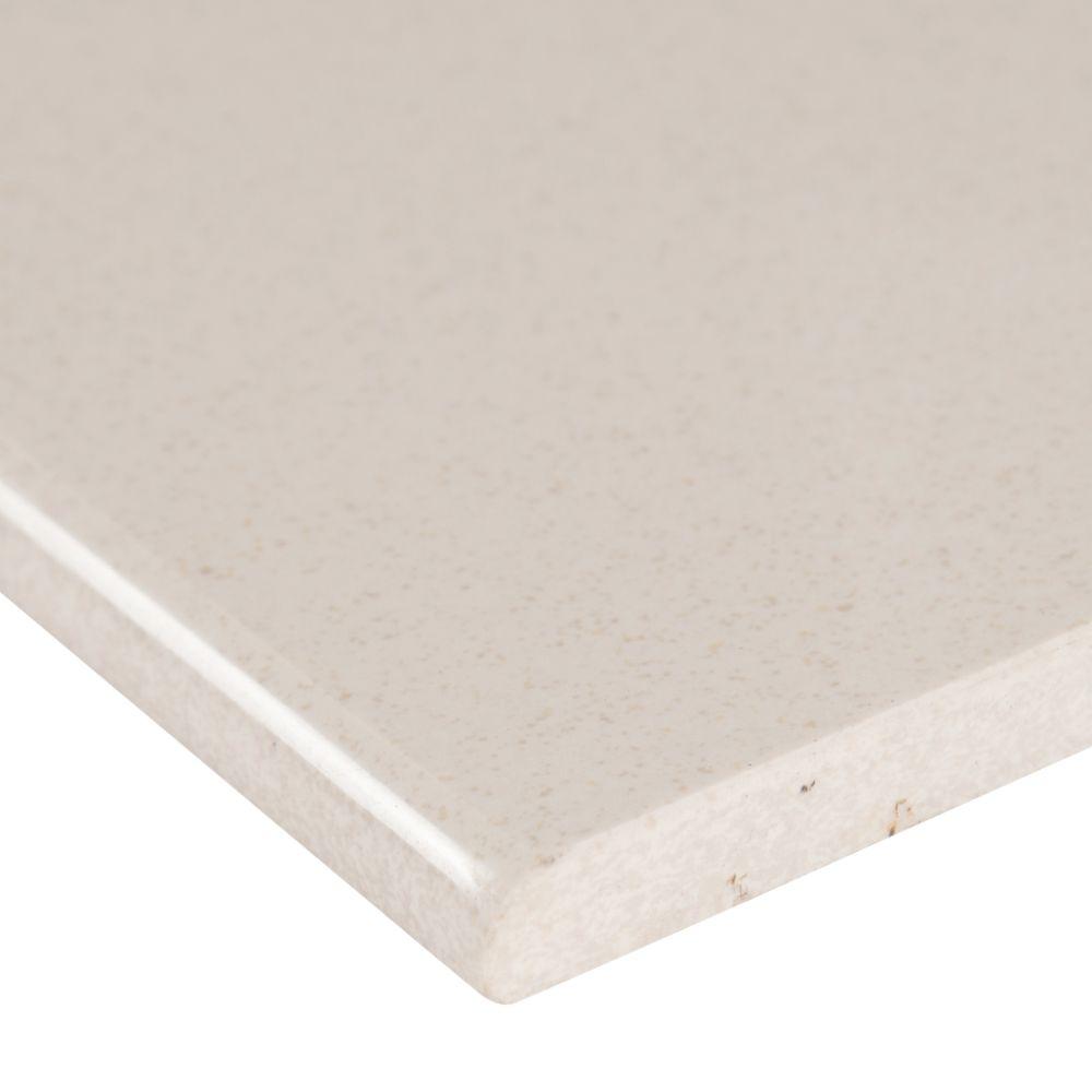 Optima Cream Bullnose 4x24 Polished Porcelain Tile