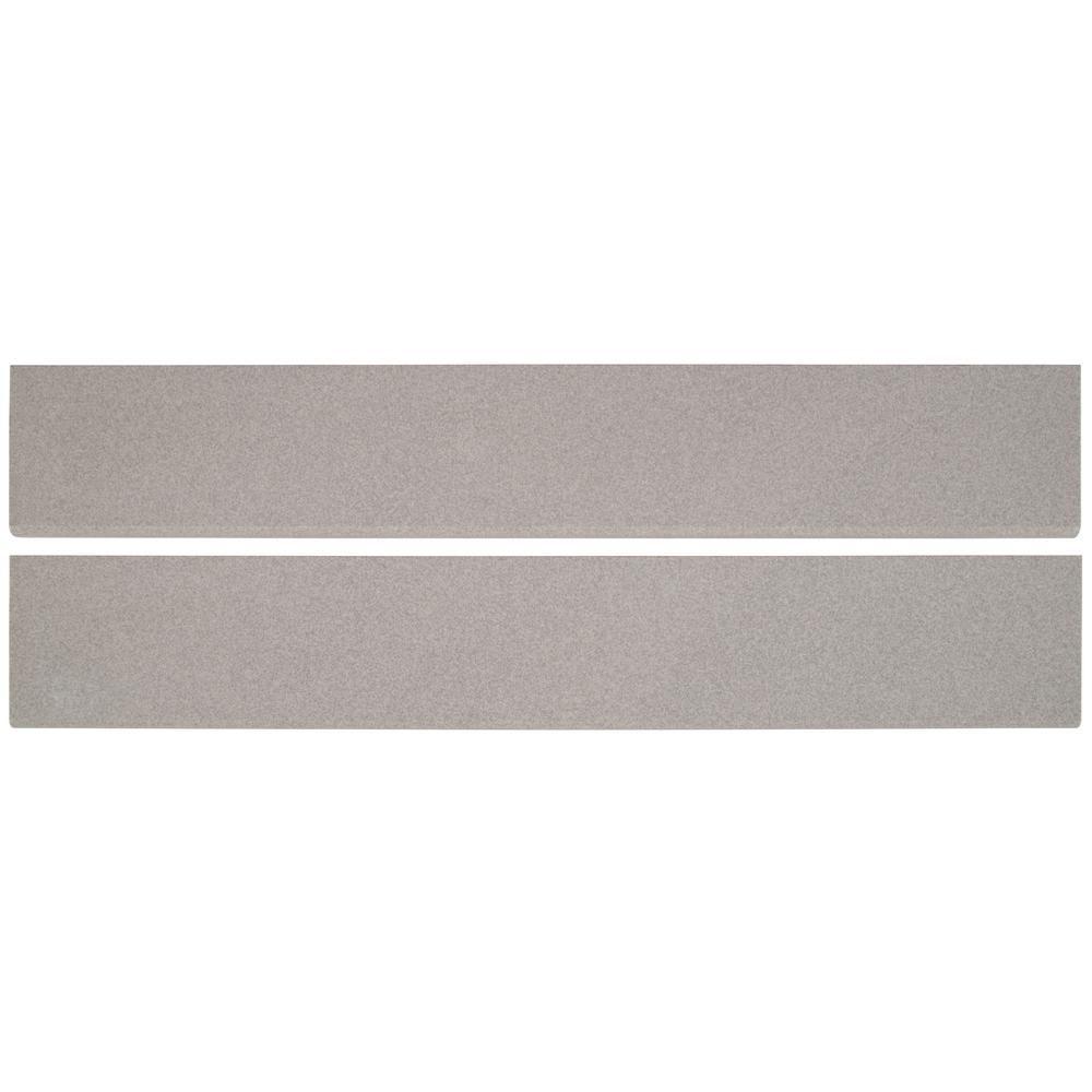 Optima Grey Bullnose 4x24 Polished Porcelain Tile