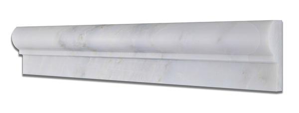 Oriental White 2X12 Polished Chair Rail Molding