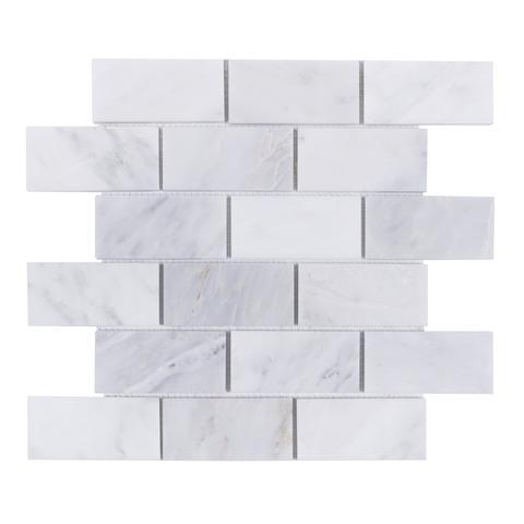 Oriental White 3x6 Brushed Subway Tile