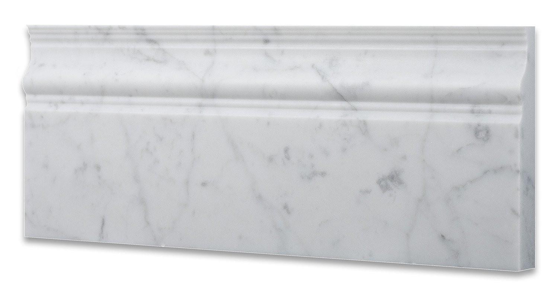 Oriental White 5X12 Polished Base Molding