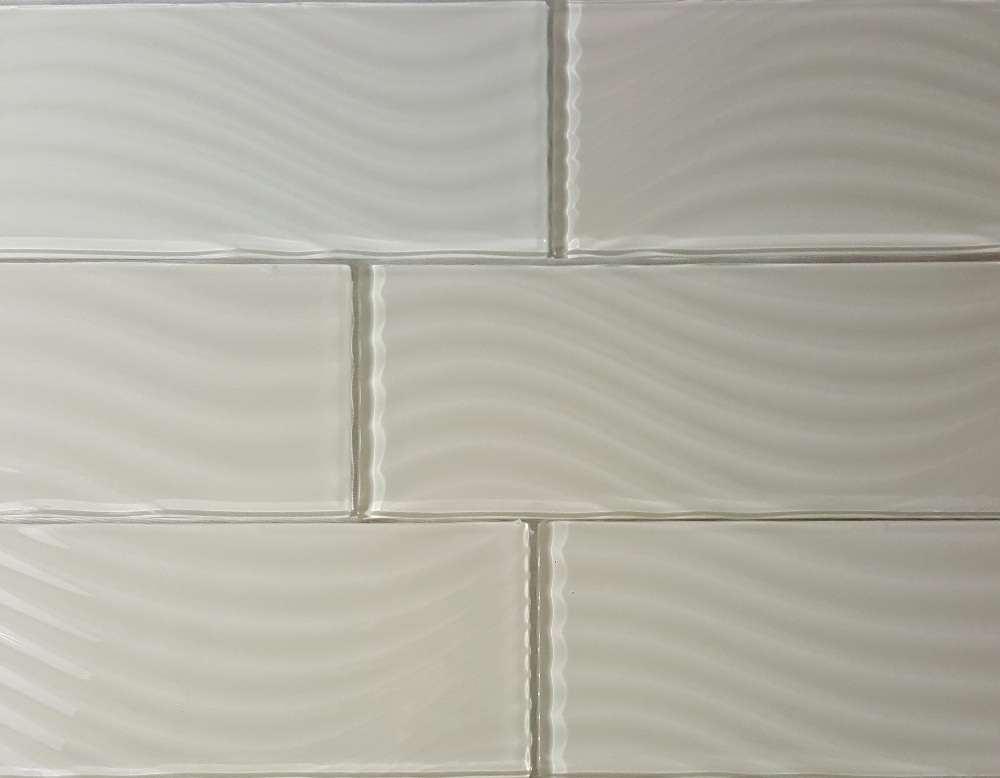 Pacific Collection Rocky Glossy 4x12 Glass Subway Tile