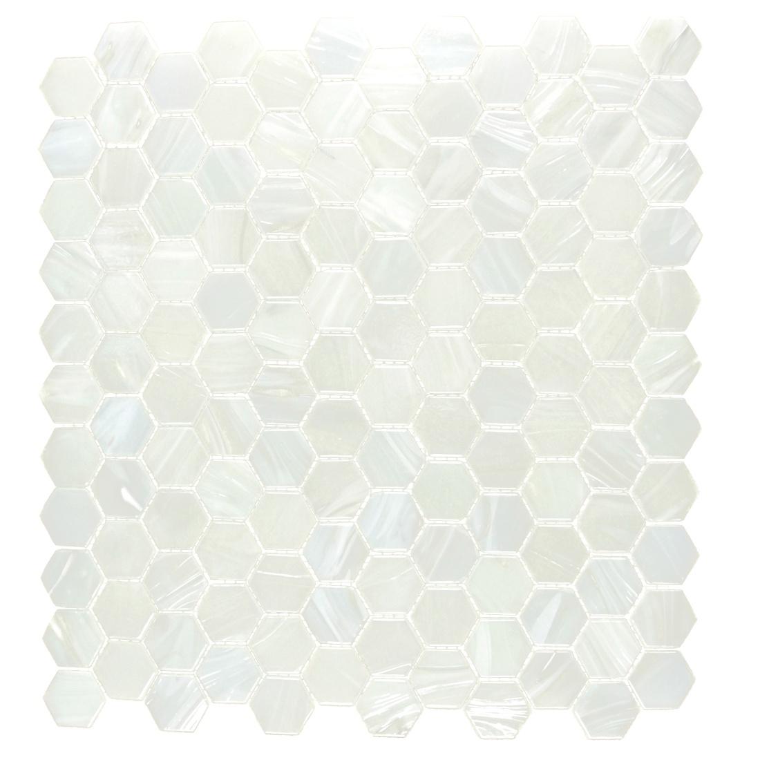Pearl Diamond 1x1 Hexagon Collection Mosaic