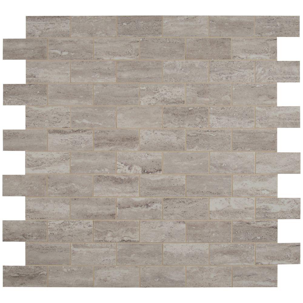 Pietra Venata White 2X4 Polished Mosaic