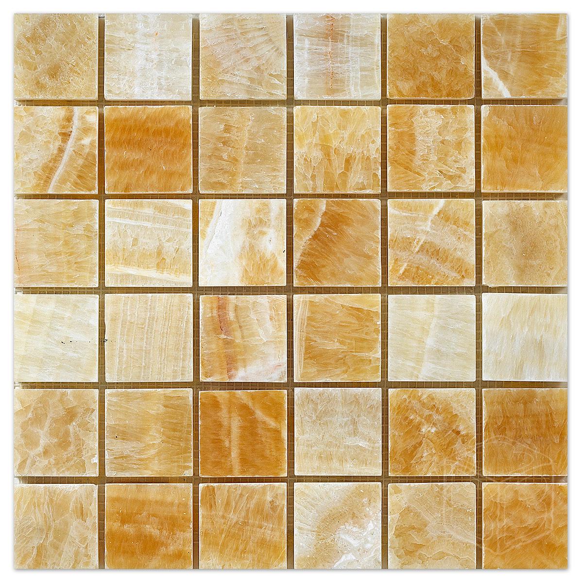 Pineapple Onyx 2x2 Polished Marble Mosaic