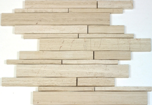 Wooden White 12x12 Interlocking Mosaic