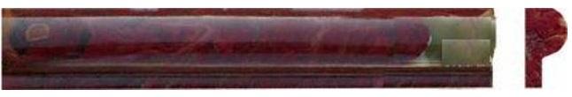 Red Onyx Rail 1X2X12 Polished